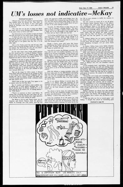 Daily Trojan, Vol. 61, No. 61, December 17, 1969
