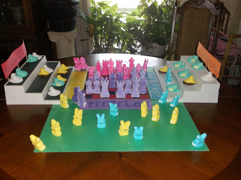 ". ""60th Annual Medieval peeps chess tournament,\"" by Victoria Biela, West Monroe, N.Y."