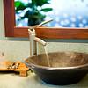 Detail of modern bowl sink