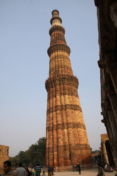 Qutb Minar (tower), a World Heritage site