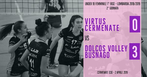 LOM-U18f-1f: 2^ Virtus Cermenate - Dolcos Volley Busnago