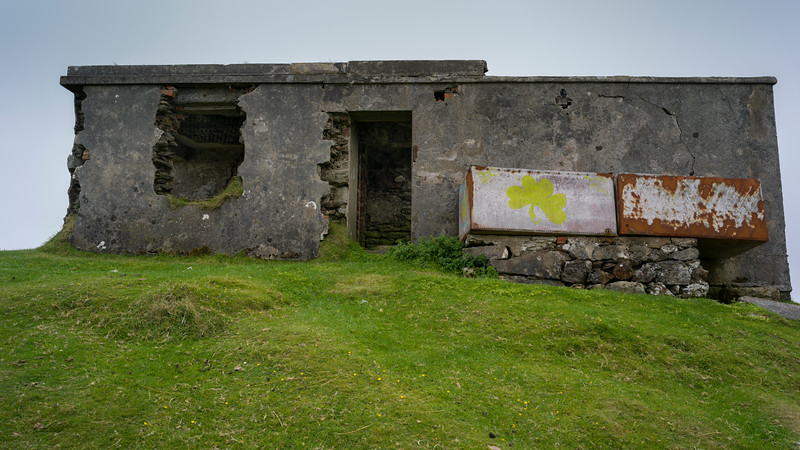 View of an abandoned building, Achill Head Hike, Achill Island, County Mayo, Ireland