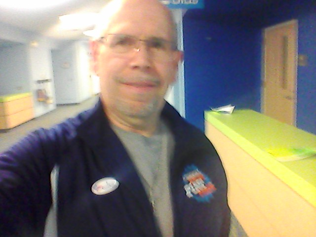 . Dave Lambert of Troy after voting Tuesday. Find him at Twitter.com/DLambertsOnline