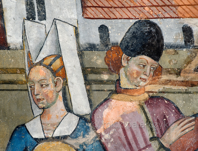 [FRANCE.ALPSSOUTH 29797] 'Medieval portraits at Venanson.'