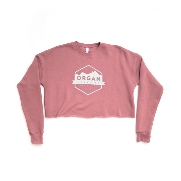 Organ Mountain Outfitters - Outdoor Apparel - Womens - Classic Cropped Crew Fleece - Mauve.jpg