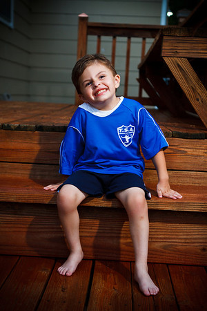 Jack's soccer uniform
