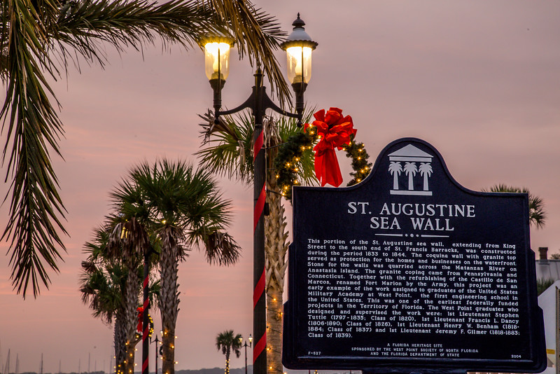 St. Augustine Sea Wall Sign