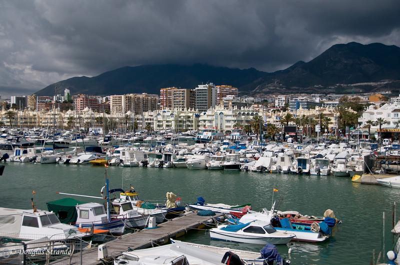 Sat 3/12 in Torremolinos (Costa del Sol): Big storm is coming.