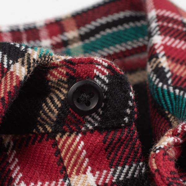 Black Crazy Check Ultra Heavy Flannel Western Shirt--7.jpg