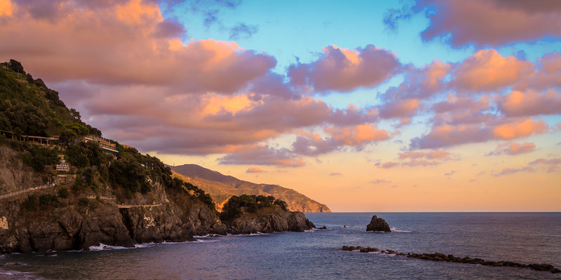Sunset over Monterosso al Mare, Italy