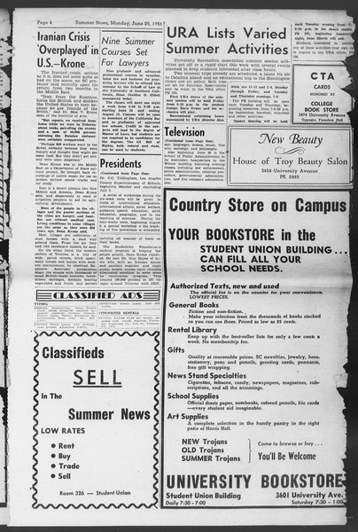 Summer News, Vol. 6, No. 1, June 25, 1951
