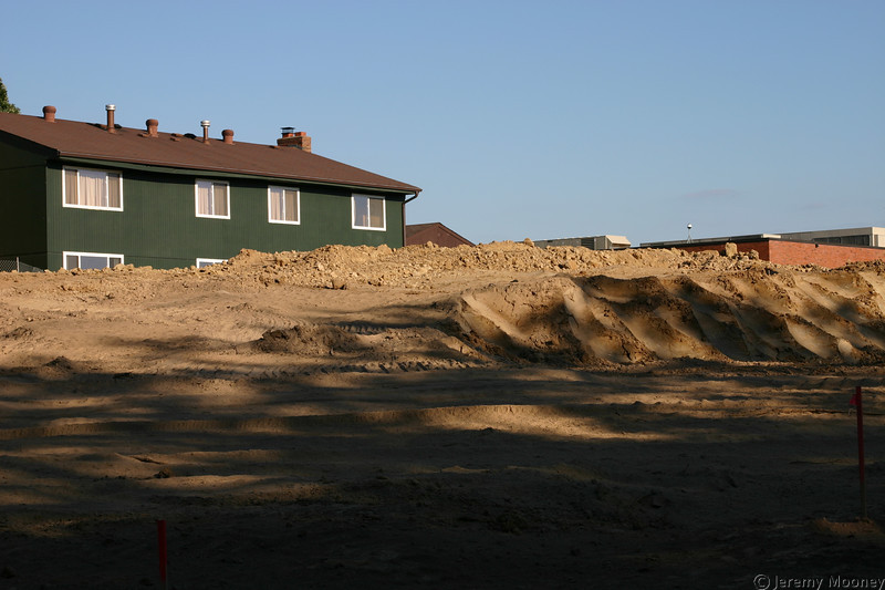 The top of the hill, when dirt removal was just beginning