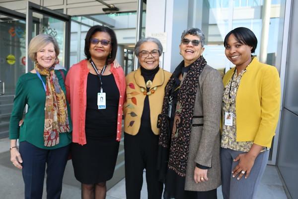 Dr. Marian Wright-Edelman with Dr. Deborah Prothrow-Stith