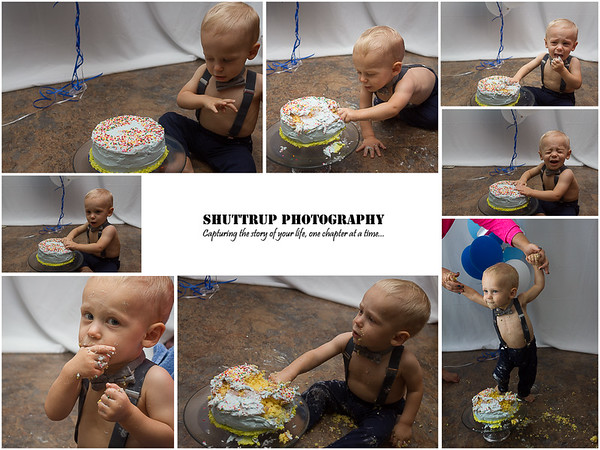 Evan's Smash Cake | Shuttrup Baby Photography