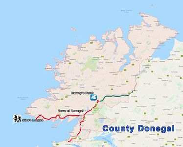 MAP - COUNTY DONEGAL