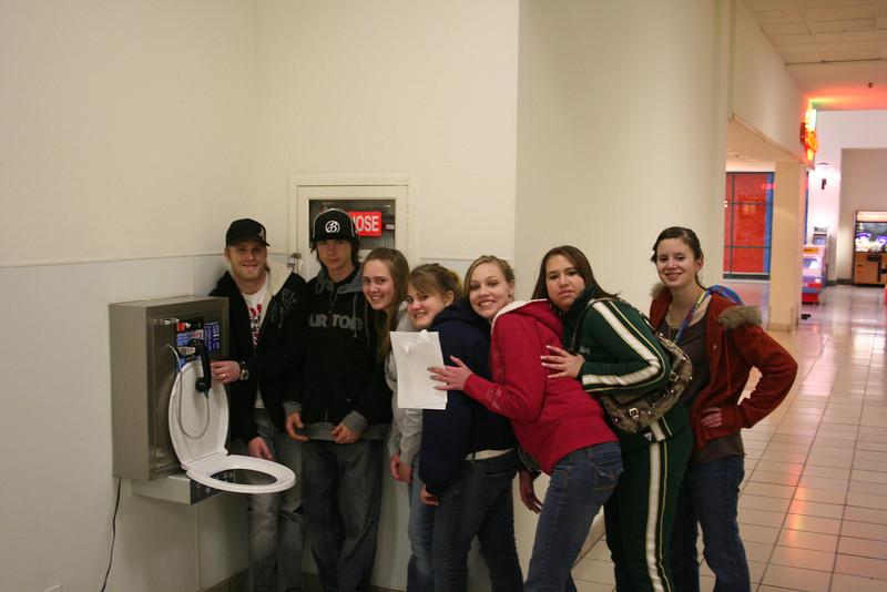 High School Scavenger Hunt Feb 08 In a phone booth (kinda)