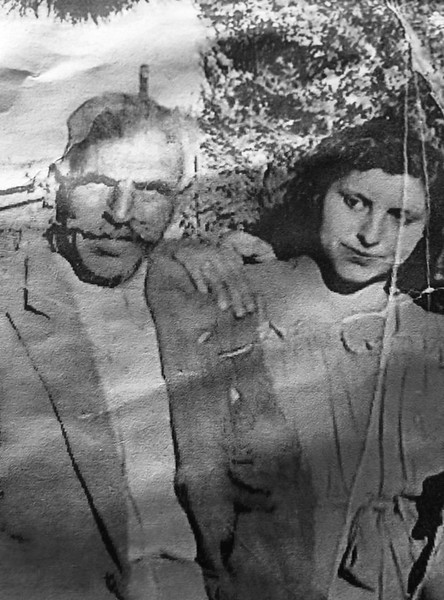 Elaine Khoury and her father in the 1930's