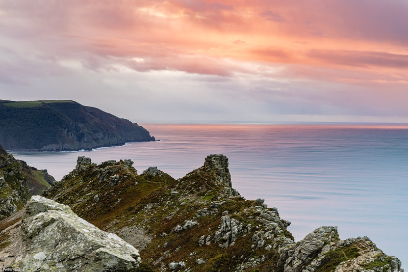 Sunset from the Valley of the Rocks