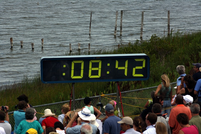 The last hold is released, and the final countdown begins.  T minus 8 minutes and 42 seconds to liftoff.