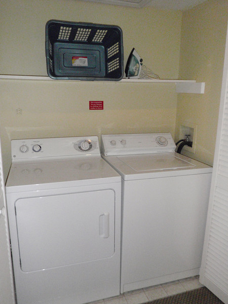 Cool, we have a washer & dryer! That will come in handy!