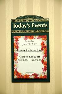 Brooks Birthday Bash June 30, 2007