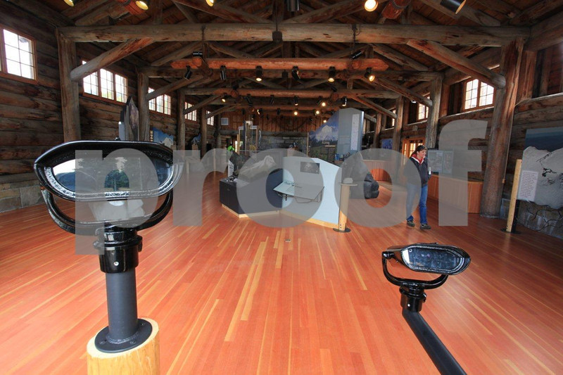 Mt. Rainier National Park's newly remodeled Sunrise Visitor Center that opened in June 2011.