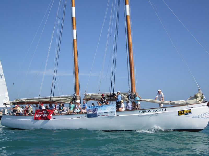 Spectator boat.