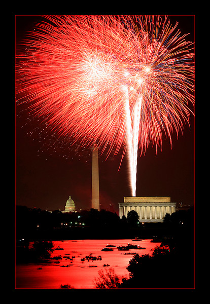 July 4th Fireworks over Washington DC