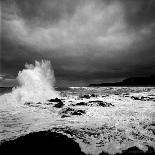 Wild sea on the East coast of Scotland