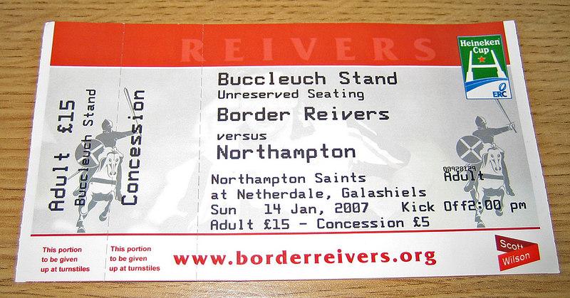 Border Reivers vs Northampton Saints, Heineken Cup, Murrayfield, 14 January 2007