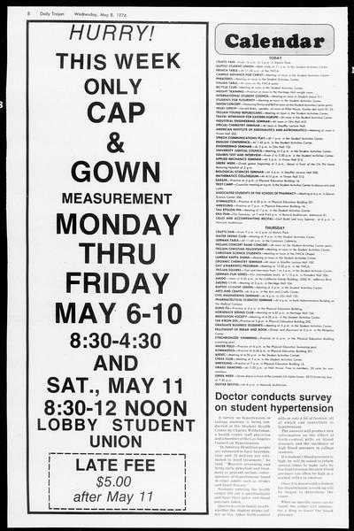 Daily Trojan, Vol. 66, No. 122, May 08, 1974