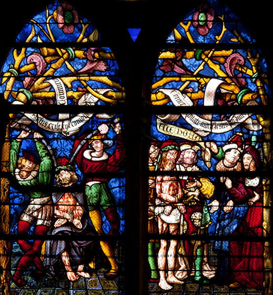 Chalons-en-Champagne Cathedral, The Passion Window, The Flagellation and The Mocking of Christ