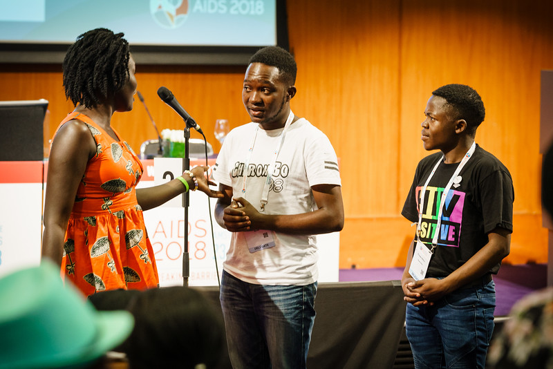 22nd International AIDS Conference (AIDS 2018) Amsterdam, Netherlands.   Copyright: Matthijs Immink/IAS  Young people at the centre: Community mobilization for youth-friendly HIV services  On the photo: Performence