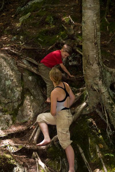 Stephanie help Jordan climb down   (Jul 07, 2007, 11:56am)