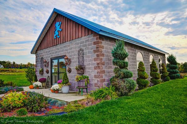 The Kings Garden Vineyards wine tasting facility on Seneca Lake in the Finger Lakes region of New York.