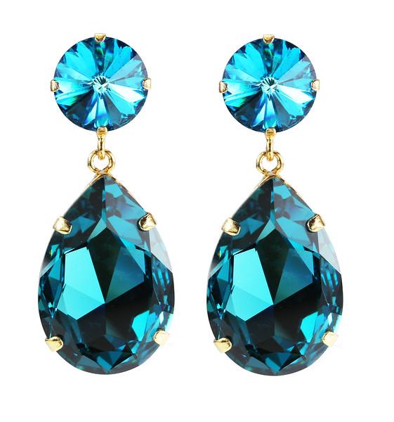 Perfect Drop Earrings / Indigo