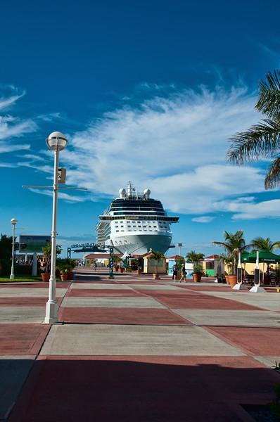 Our ship, Celebrity's Equinox, in port in St. Maarten.