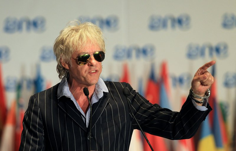 """. <p>10. (tie) BOB GELDOF <p>Claims world could end quickly, like it did for his band after just one hit. (unranked) <p><b><a href=\'http://www.independent.co.uk/arts-entertainment/music/news/bob-geldof-the-world-could-end-by-2030-8864186.html\' target=\""""_blank\""""> HUH?</a></b> <p>    (AP Photo/Themba Hadebe)"""