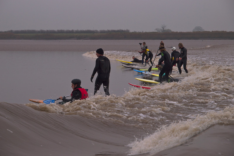 A bit busy at times as many enthusiasts ride the bore wave.