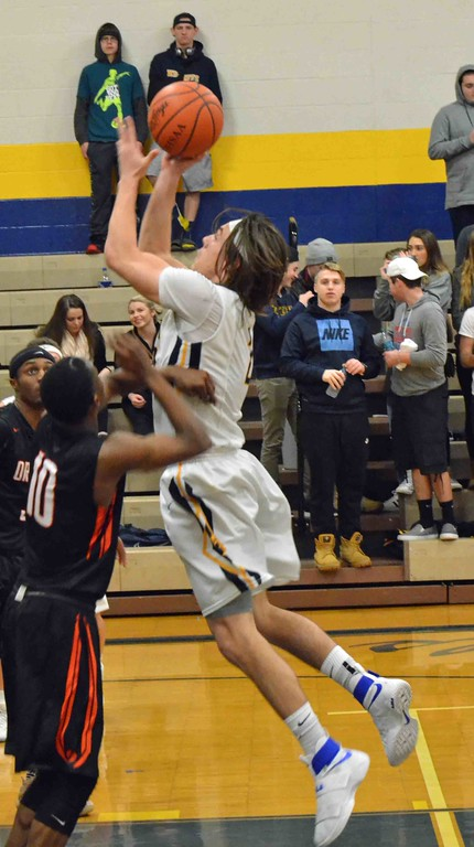 . Paul DiCicco - The News-Herald Wickliffe�s Justin Fortkamp leans into a shot.