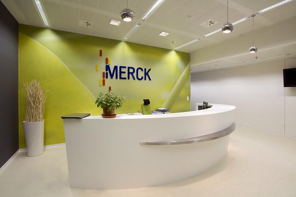 Merck - Interiér recepce 2009