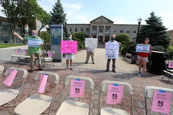 UMLbudget cuts protest 072320