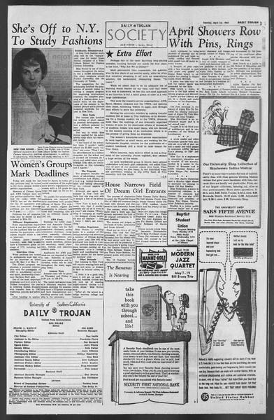Daily Trojan, Vol. 54, No. 103, April 23, 1963