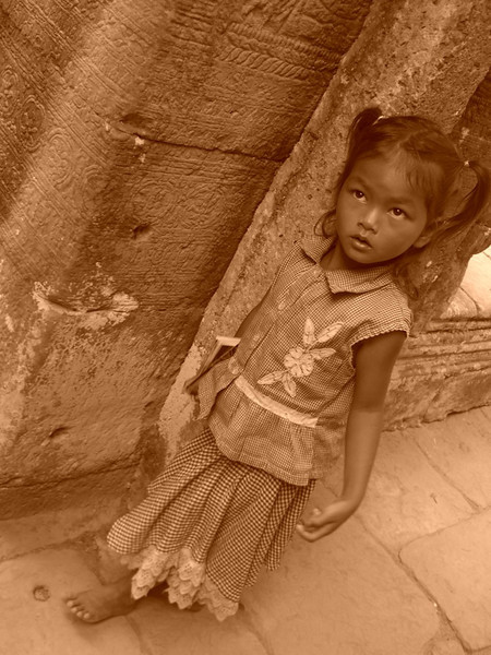 Postcard Girl - Angkor, Cambodia