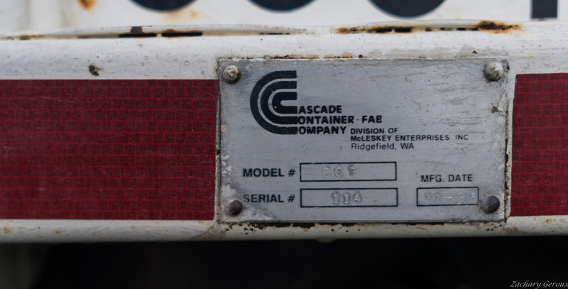 Cascade Container-Fab Company Plate