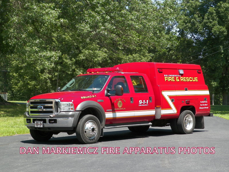 DAUNTLESS HOOK & LADDER CO. SQUAD 8-1 2005 FORD/READING SQUAD