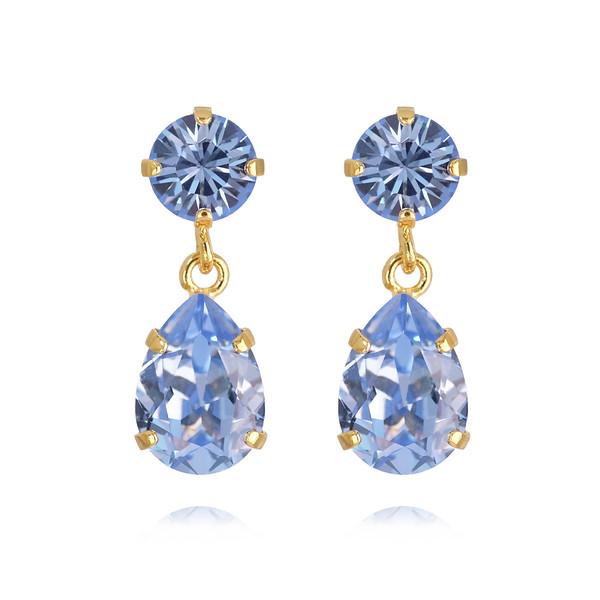 Mini Drop Earrings / Light Sapphire