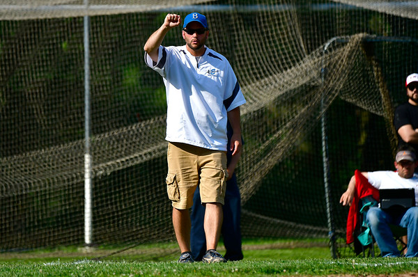 5/31/2019 Mike Orazzi | Staff Bristol Eastern softball coach Scott Redman in the Class L Quarterfinals softball game on Fr