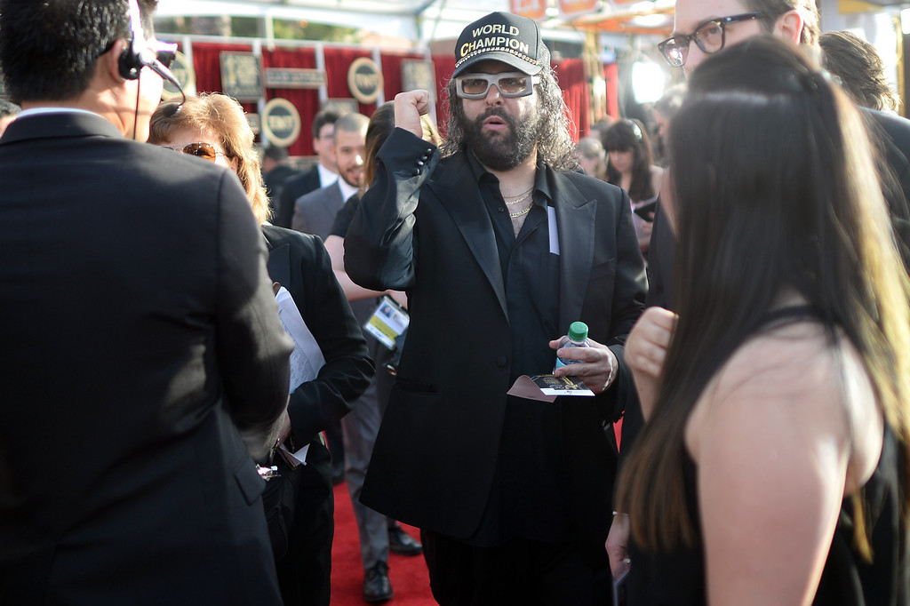 . Judah Friedlander on the red carpet at the 20th Annual Screen Actors Guild Awards  at the Shrine Auditorium in Los Angeles, California on Saturday January 18, 2014 (Photo by Hans Gutknecht / Los Angeles Daily News)