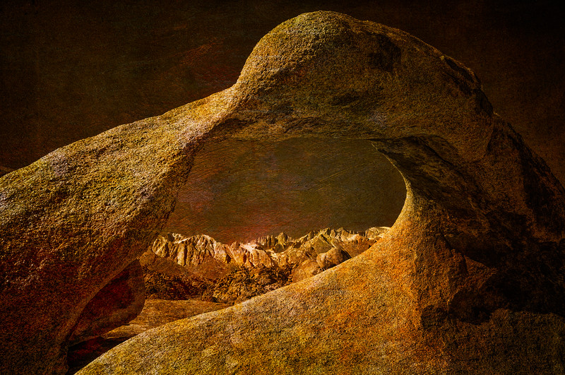 Mobius Arch and Mt. Whitney, Alabama Hills, Lone Pine, California